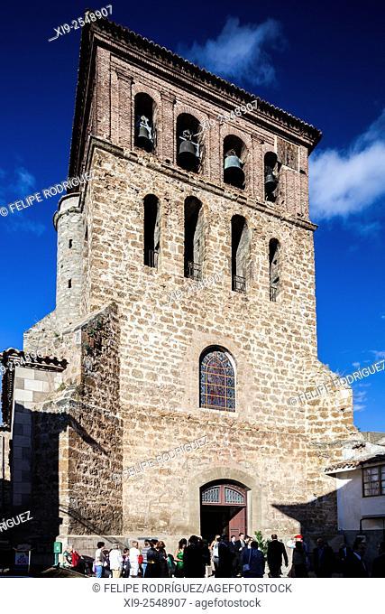 Bell tower of San Gil church, Cervera del Rio Alhama, La Rioja, Spain