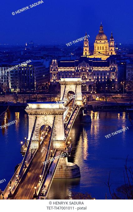 Chain Bridge and Saint Stephen's Basilica