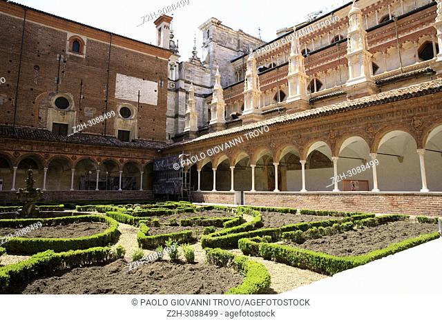 Certosa di Pavia area and Carthusian Monastery inside , Pavia, Lombardy, Italy