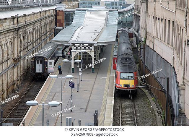 High Speed Train at Waverley Railway Station; Edinburgh; Scotland