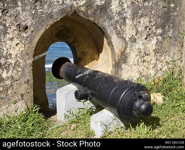 Canons in Fort Jesus in the old town in Mombasa, Kenya