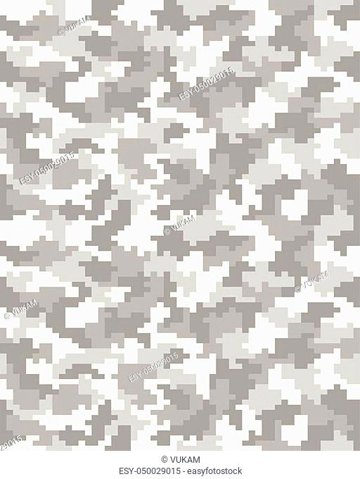 Seamless pattern of digital gray camouflage