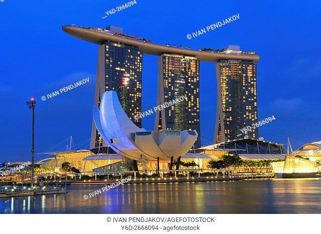 Marina Bay Sands at Dusk, Singapore