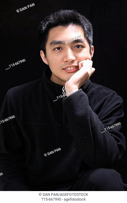 Portrait of an asian young man
