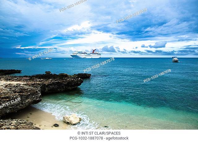 Cruise Ship Off the Shore