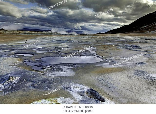 Small mineral pools, Namaskard, Myvatn, Iceland