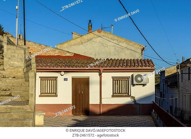 A rural house view in Sentiu of Sio, Lerida province, Catalonia, Spain