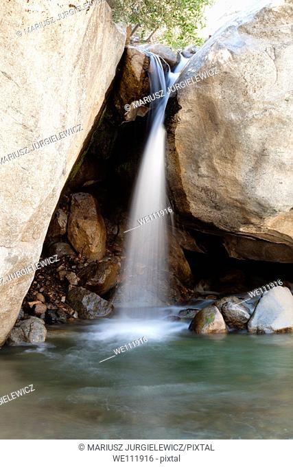 Waterfall near Buckeye Flat in Sequoia National Park