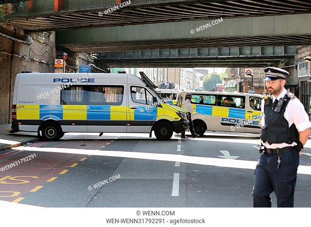 General scene near the incident. According to the Metropolitan Police Service, police responded to reports of a major incident where a vehicle collided with...