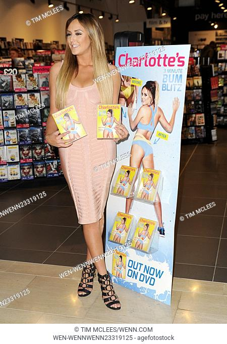 Charlotte Crosby seen at HMV Westfield in london whilst promoting her new fitness DVD 3 minute Bum Blitz Featuring: Charlotte Crosby Where: London