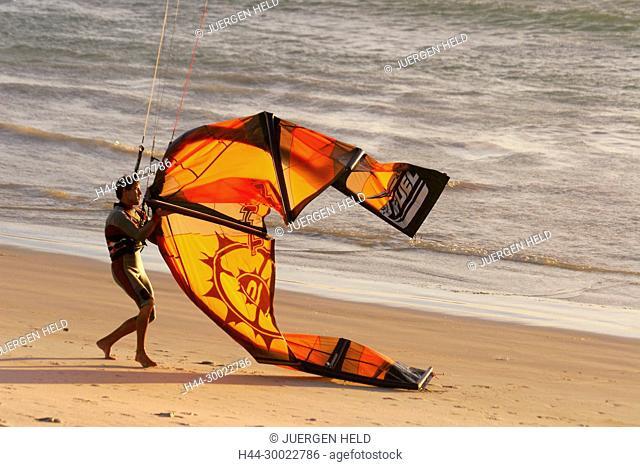 south africa cape town, bloubergstrand, kitesurfer