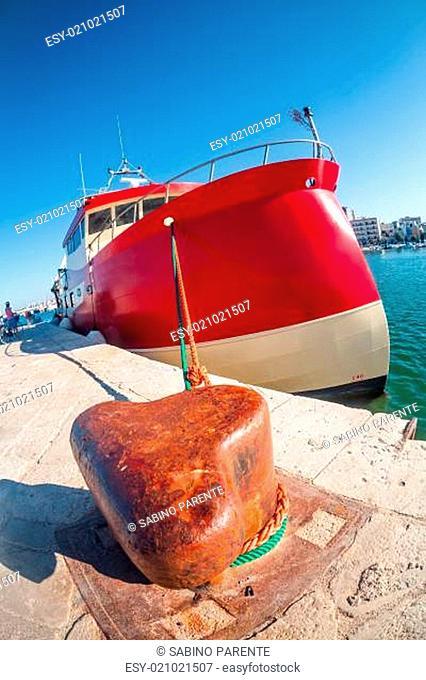 Huge red boat