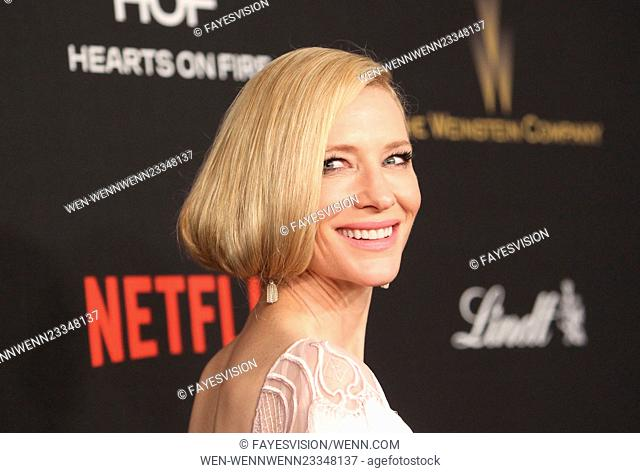The Weinstein Company and Netflix 2016 Golden Globes After Party at the Beverly Hilton Hotel Featuring: Cate Blanchett Where: Beverly Hills, California