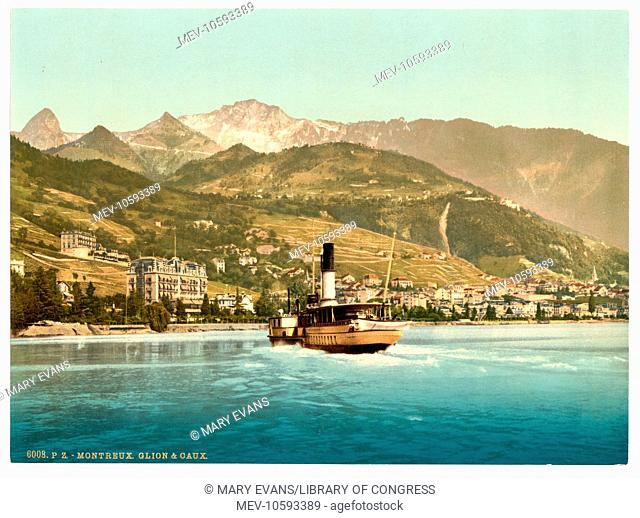 Montreux and Glion, Geneva Lake, Switzerland. Date between ca. 1890 and ca. 1900