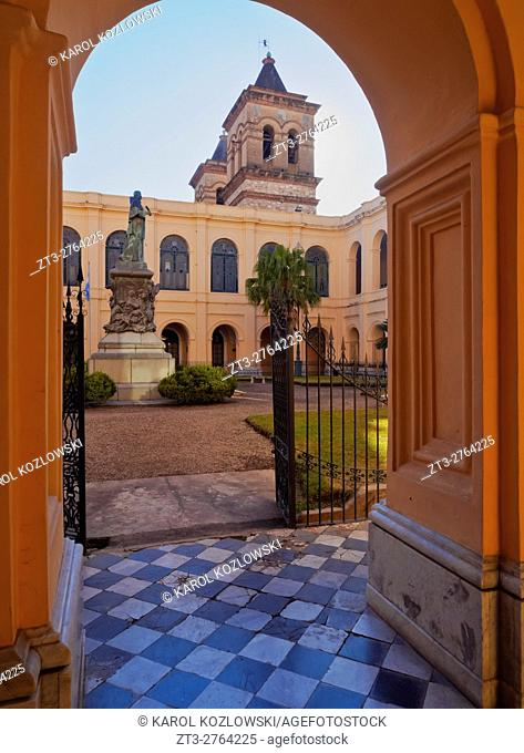 Argentina, Cordoba, Manzana Jesuitica(Jesuit Block), View of the patio of the National University of Cordoba, former Colegio Maximo of the Society of Jesus
