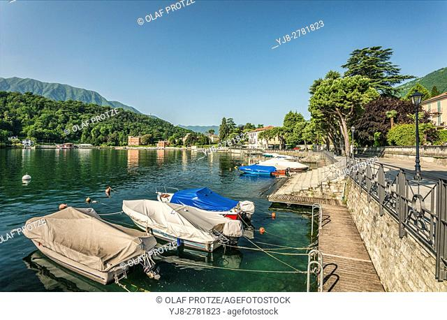 View at the waterfront of Lenno at Lake Como, Lombardy, Italy