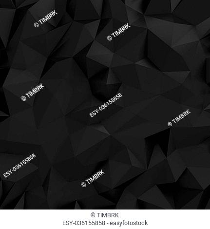Black background with low-poly effect