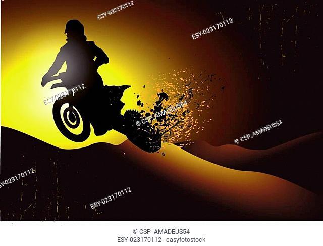 motocross background design with gr