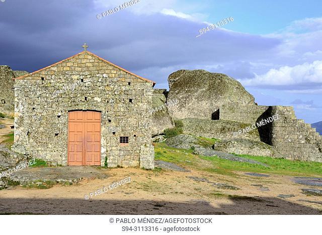 Chapel of Santa Maria do Castelo in the castle area, Monsanto, Castelo Branco, Portugal