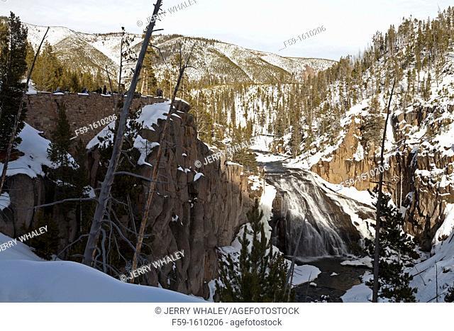 Gibbon Falls, Winter, Yellowstone NP, WY