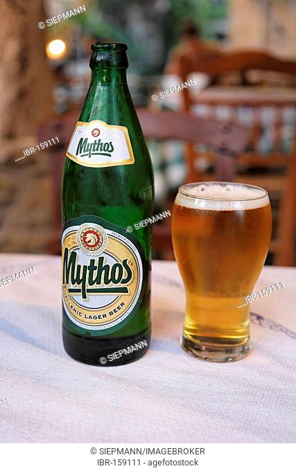 Greek beer Mythos, Crete, Greece