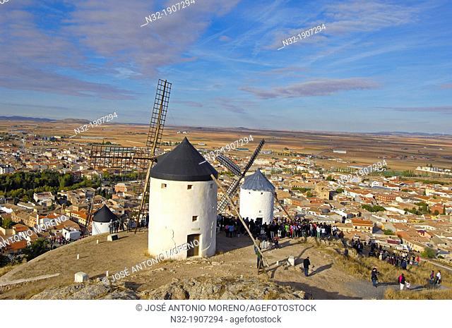 Windmill, Consuegra, Toledo province, Route of Don Quixote, Castilla-La Mancha, Spain