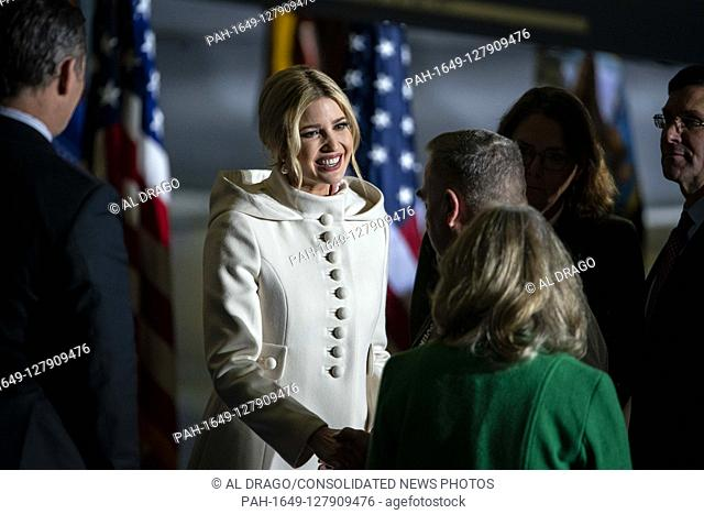 First daughter and Advisor to the President Ivanka Trump, arrives prior to United States President Donald J. Trump making remarks and signing S