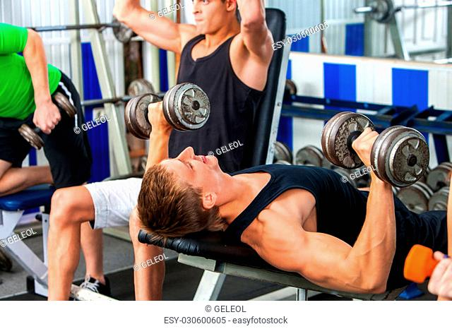 Bodybuilders and simulator Stock Photos and Images | age