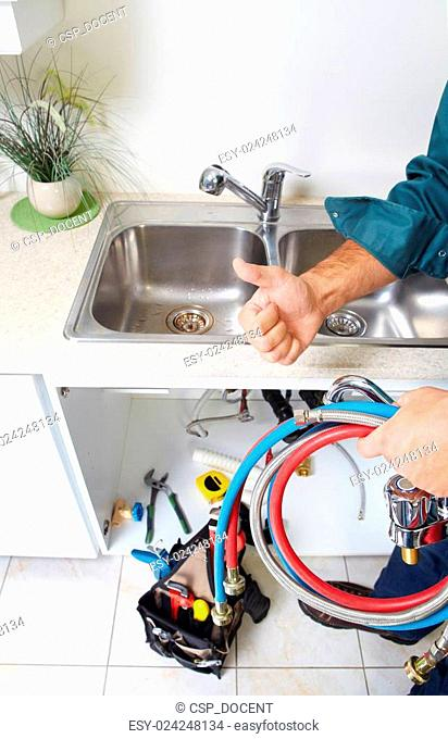 Plumber on the kitchen