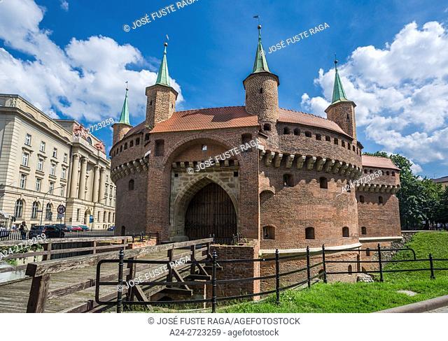 Poland, Krakow City, Barbakan Fortress
