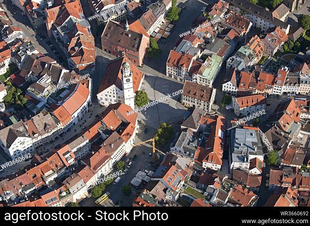 Germany, Baden Württemberg, Ravensburg, aerial view