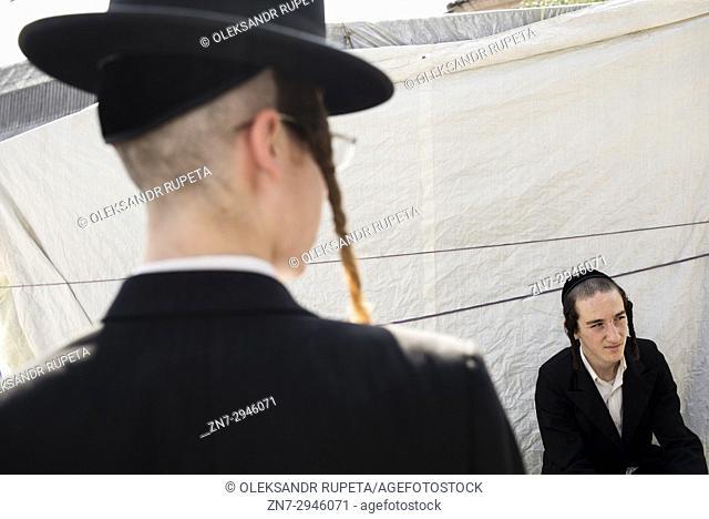 Jewish New Year in Uman, Ukraine. Every year, thousands of Orthodox Bratslav Hasidic Jews from different countries gather in Uman to mark Rosh Hashanah