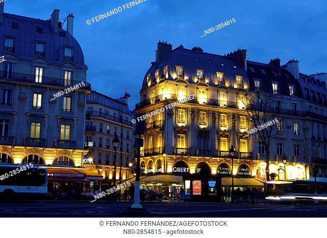 Boulevard Saint Michel. Paris. France. Europe