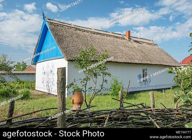 FROMUSHIKA NOVA VILLAGE, ODESSA OBLAST, UKRAINE - JUNE 19, 2020: Ukrainian Village of the 19th Century - Ethnographic Museum