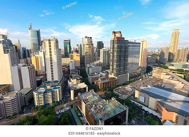 Hight rise condominium and office buildings in Makati City, Manila, Philippines