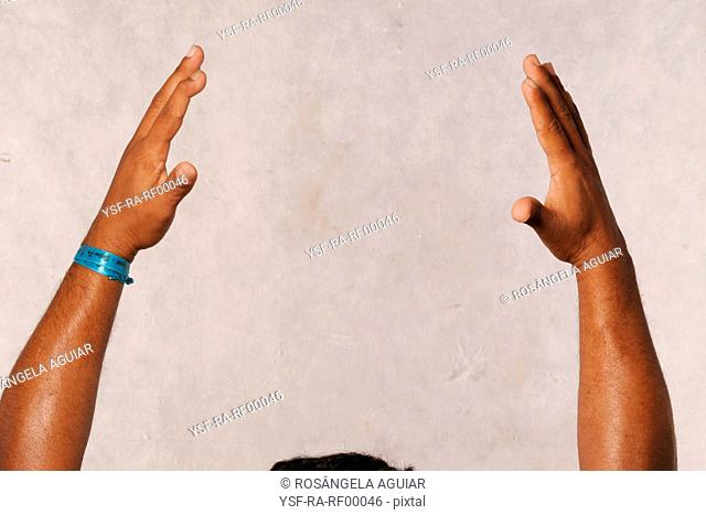 Arms up, man, Belém, Pará, Brazil