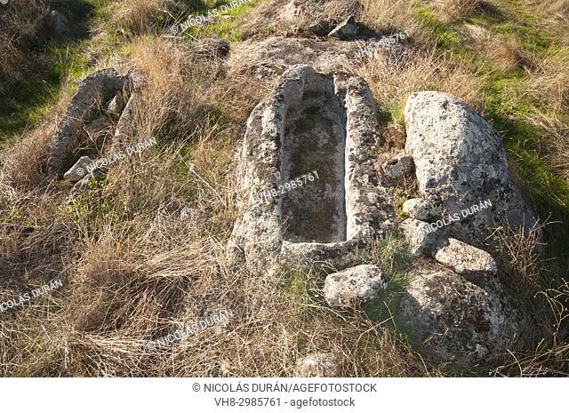 Roman human tombs, Albuquerque, Extremadura, Badajoz province, Spain