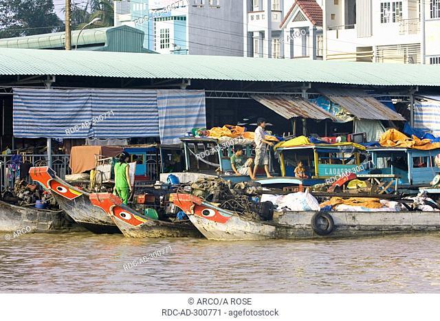 Port, Mekong River, Mekong delta, Cai Be, Vietnam
