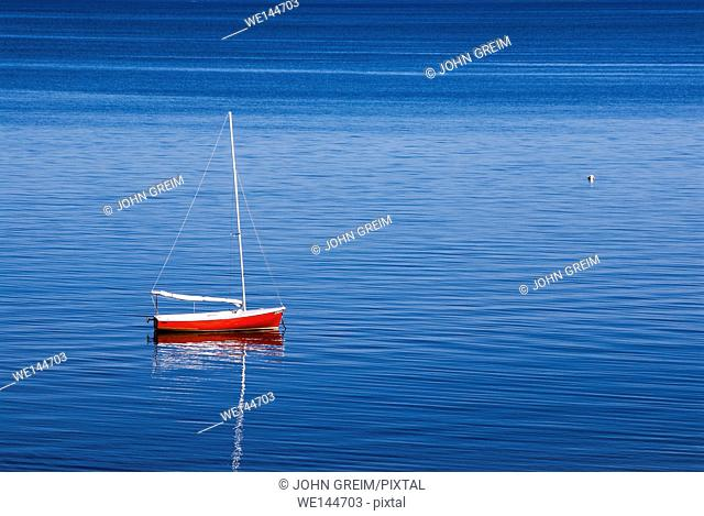 Sailboat, Eastham, Cape Cod, Massachusetts, USA