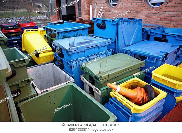 Waste management, recycling, Mercabilbao fruits and vegetables wholesale market, Basauri, Bilbao, Bizkaia, Euskadi, Spain