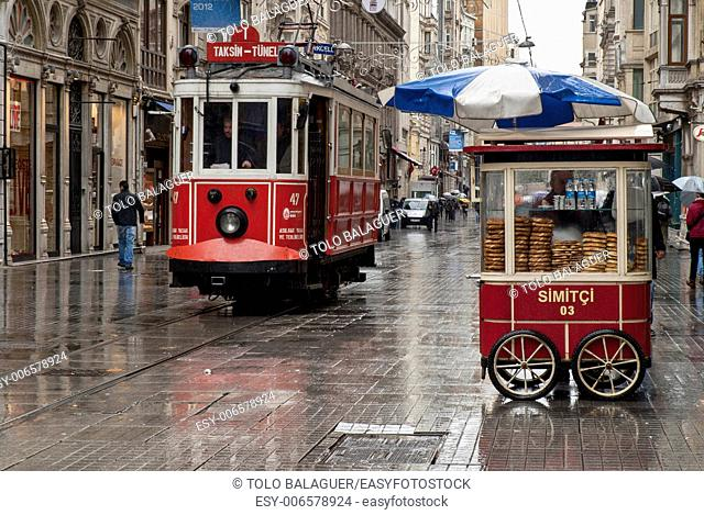 Tram, Galata neighborhood. Estambul. Turkey. Asia