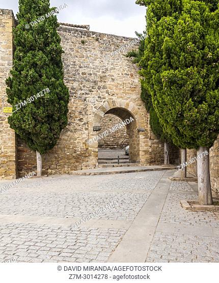 Puerta de Granada and city wall. Úbeda. Jaén. Andalusia. Spain