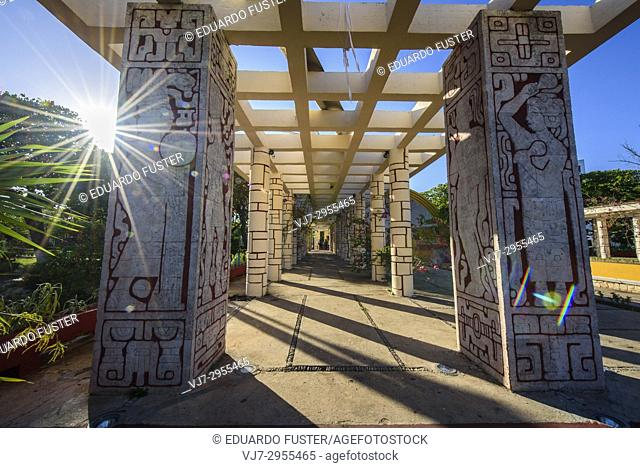 Parque Las Americas in the historic center, Merida, Riviera Maya, Yucatan Province, Mexico, Central America