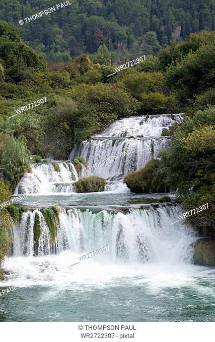 90900304, Krka Falls National Park, Dalmatia, Croa
