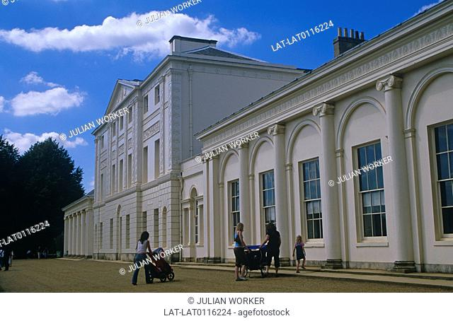 Kenwood House on Hampstead Heath is a historic house built in the early 18th century, in a park designed by Humphrey Repton