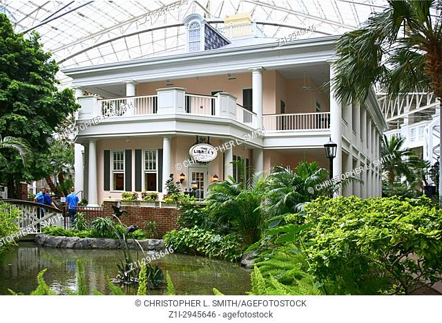 The Library in the botanical garden style Gaylord Opryland hotel resort in Nashville TN, USA