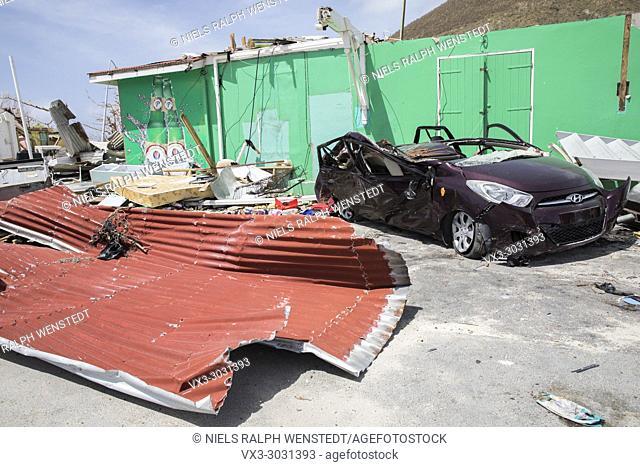 SAINT MARTIN - The Dutch part of Saint Martin (Sint-Maarten) a few days after the hurricane Irma
