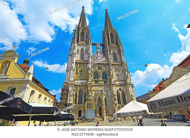 Regensburg, St Peter's Cathedral, UNESCO World Heritage Site, Upper Palatinate, Bavaria, Germany
