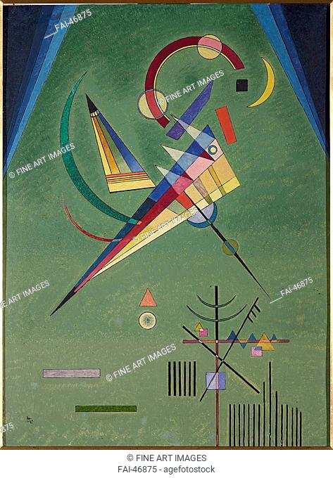 Free by Kandinsky, Wassily Vasilyevich (1866-1944)/Oil on cardboard/Abstract expressionism/1927/Russia/Museo Nacional Centro de Arte Reina Sofía