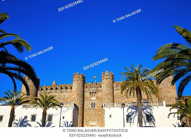 Alcazar de Zafra in Extremadura of Spain by the Via de la Plata way